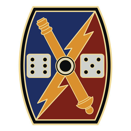 Combat Service Identification Badge Sticker - 65th Fires Brigade Decal