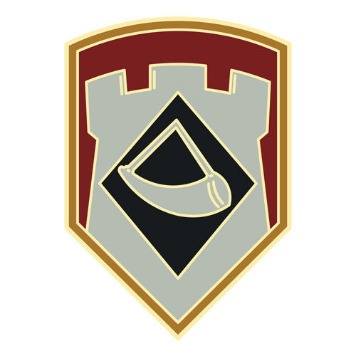 Combat Service Identification Badge Sticker - 111th Engineer Brigade Decal