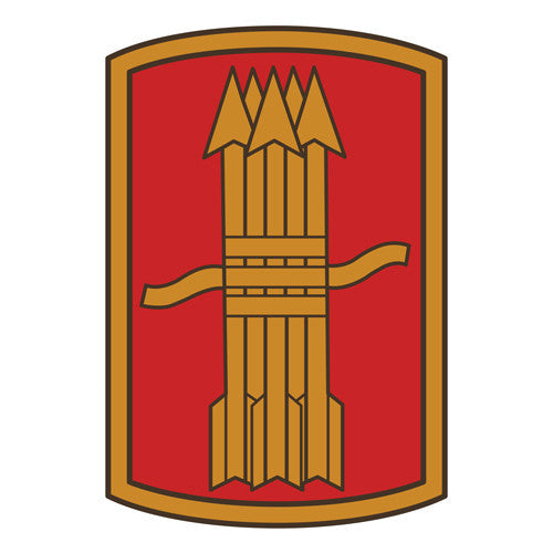 Combat Service Identification Badge Sticker - 197th Fires Brigade Decal