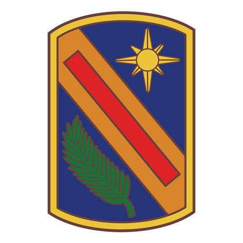 Combat Service Identification Badge Sticker - 321st Sustainment Brigade Decal