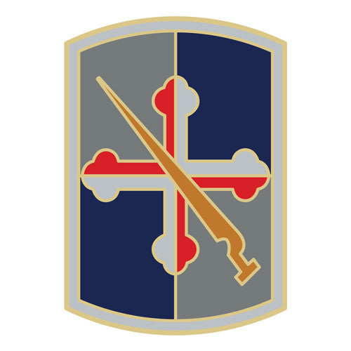 Combat Service Identification Badge Sticker - 58th Infantry Brigade Decal