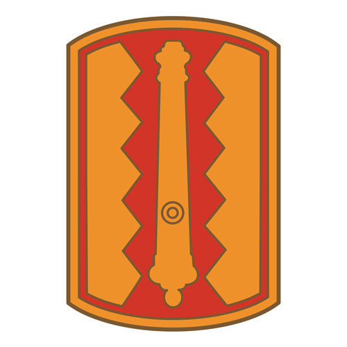 Combat Service Identification Badge Sticker - 54th Field Artillery Brigade Decal