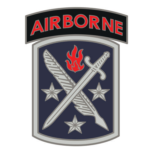 Combat Service Identification Badge Sticker - 95th Civil Affairs with Airborne Tab Decal