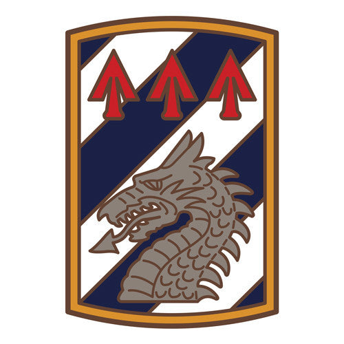 Combat Service Identification Badge Sticker - 3rd Sustainment Brigade Decal
