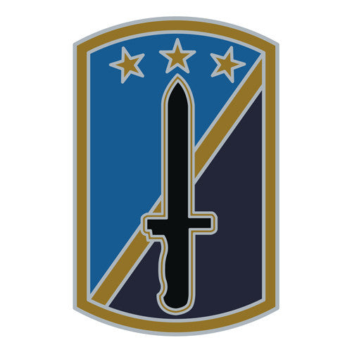 Combat Service Identification Badge Sticker - 170th Infantry Brigade Decal