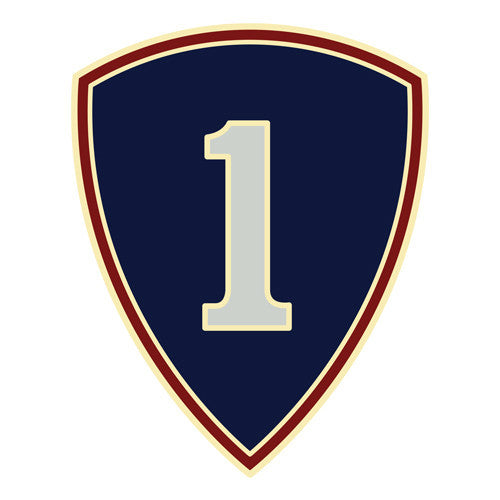 Combat Service Identification Badge Sticker - 1st Personnel Command Decal