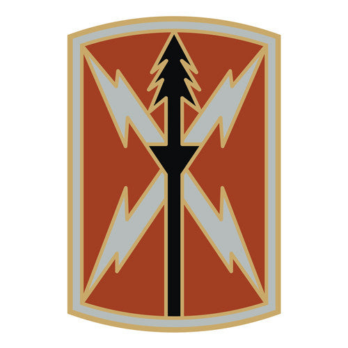 Combat Service Identification Badge Sticker - 516th Signal Brigade Decal
