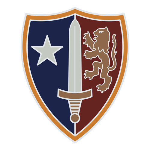Combat Service Identification Badge Sticker - United States Army NATO Decal
