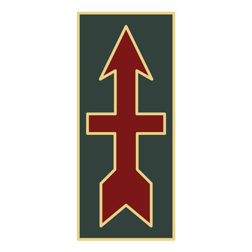 Combat Service Identification Badge Sticker - 32nd Infantry Brigade Decal
