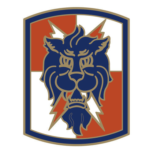 Combat Service Identification Badge Sticker - 35th Signal Brigade Decal