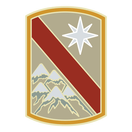 Combat Service Identification Badge Sticker - 43rd Sustainment Brigade Decal