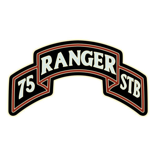 Combat Service Identification Badge Sticker - 75th Ranger Special Troops Decal