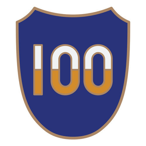 Combat Service Identification Badge Sticker - 100th Training Division Decal
