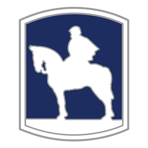 Combat Service Identification Badge Sticker - 116th Infantry Brigade Decal