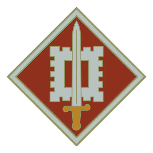 Combat Service Identification Badge Sticker - 18th Engineering Brigade Decal