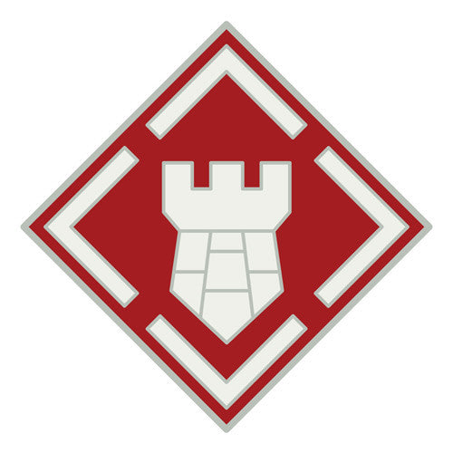 Combat Service Identification Badge Sticker - 20th Engineer Brigade Decal