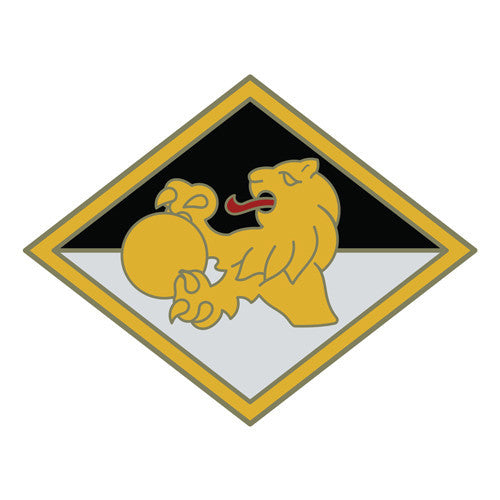 Combat Service Identification Badge Sticker - 266th Finance Command Decal
