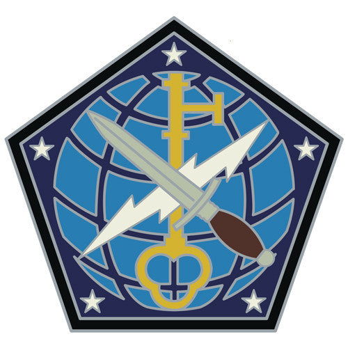 Combat Service Identification Badge Sticker - 704th Military Intelligence Brigade Decal