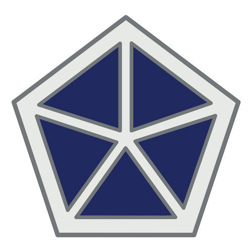 Combat Service Identification Badge Sticker - V (5th) Corps Decal