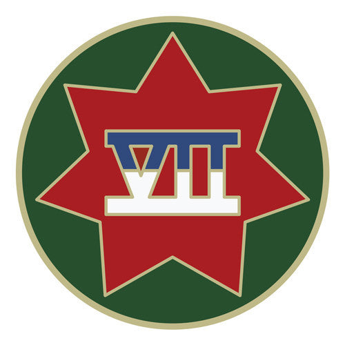 Combat Service Identification Badge Sticker - VII (7th) Corps Decal