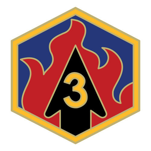 Combat Service Identification Badge Sticker - 3rd Chemical Brigade Decal