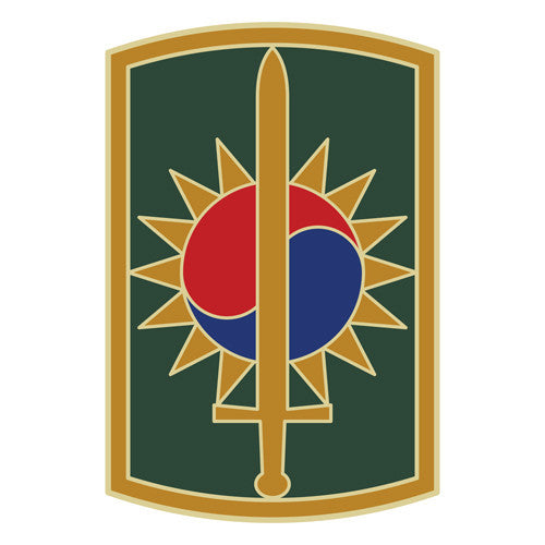 Combat Service Identification Badge Sticker - 8th Military Police Brigade Decal