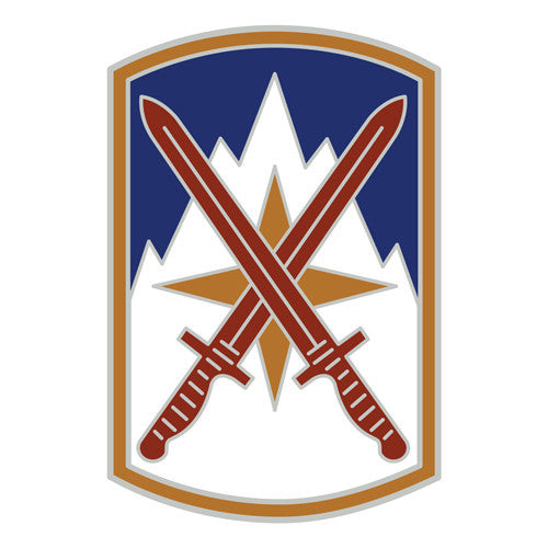 Combat Service Identification Badge Sticker - 10th Sustainment Brigade Decal