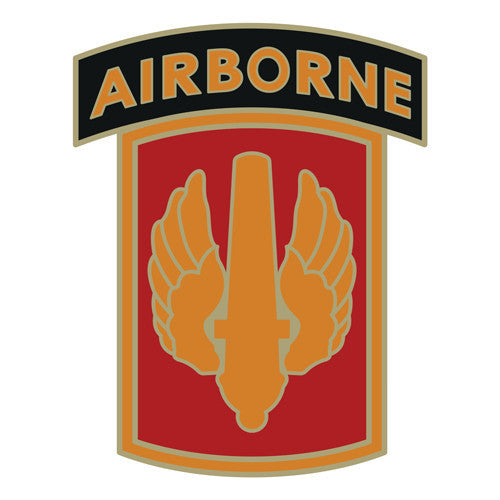 Combat Service Identification Badge Sticker - 18th Fires Brigade Airborne Decal