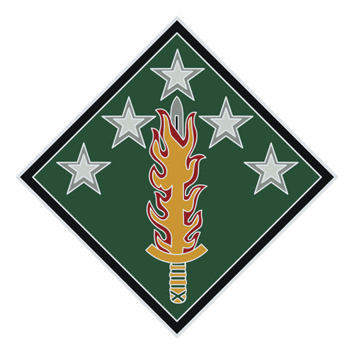Combat Service Identification Badge Sticker - 20th Support Command Decal