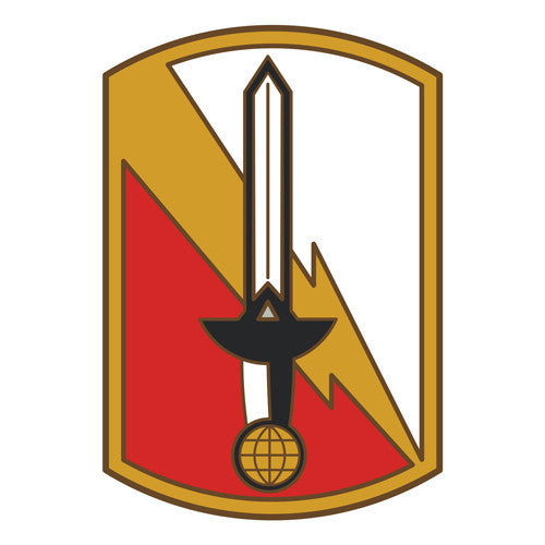 Combat Service Identification Badge Sticker - 21st Signal Brigade Decal