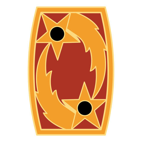 Combat Service Identification Badge Sticker - 69th ADA (Air Defense Artillery) Decal