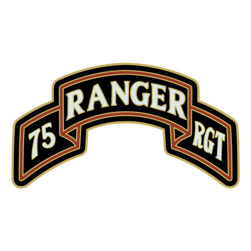 Combat Service Identification Badge Sticker - 75th Ranger Regiment Scroll Decal