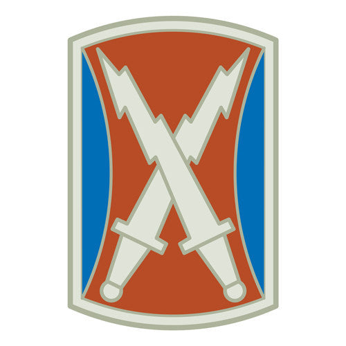Combat Service Identification Badge Sticker - 106th Signal Brigade Decal