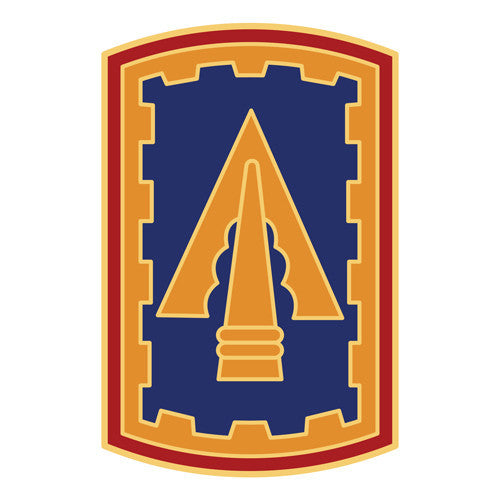 Combat Service Identification Badge Sticker - 108th ADA (Air Defense Artillery) Decal