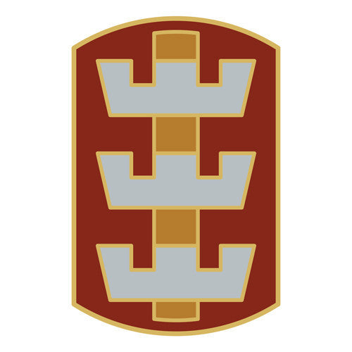 Combat Service Identification Badge Sticker - 130th Engineer Brigade Decal