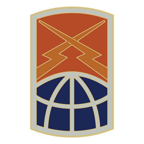 Combat Service Identification Badge Sticker - 160th Signal Brigade Decal