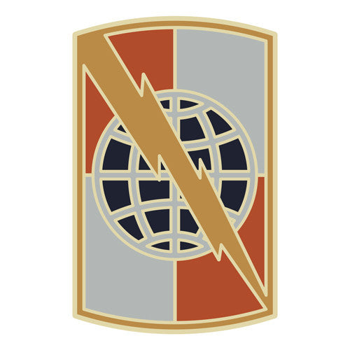 Combat Service Identification Badge Sticker - 359th Signal Brigade Decal