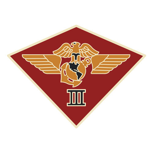 Combat Service Identification Badge Sticker - 3rd Marine Aircraft Wing Decal