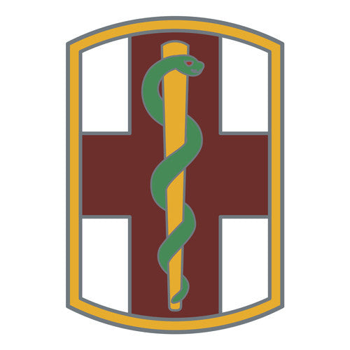 Combat Service Identification Badge Sticker - 1st Medical Brigade Decal
