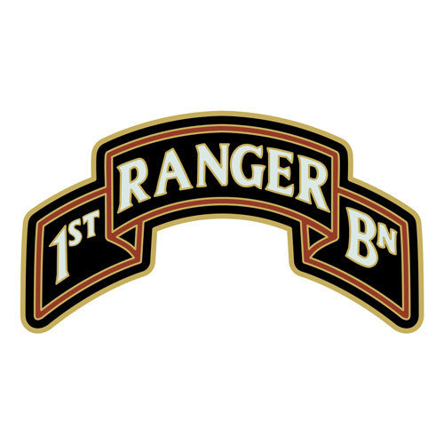 Combat Service Identification Badge Sticker - 1st Ranger Battalion Scroll 75th Regiment Decal