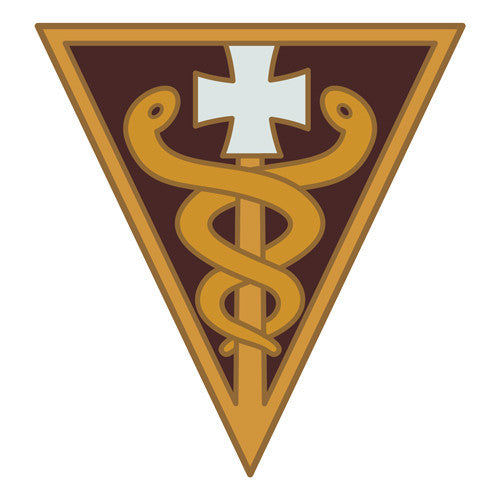 Combat Service Identification Badge Sticker - 3rd Medical Command Decal