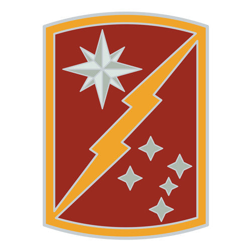 Combat Service Identification Badge Sticker - 45th Sustainment Brigade Decal