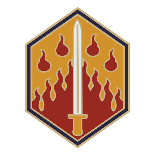 Combat Service Identification Badge Sticker - 48th Chemical Brigade Decal