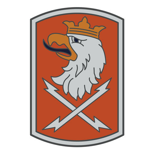 Combat Service Identification Badge Sticker - 22nd Signal Brigade Decal
