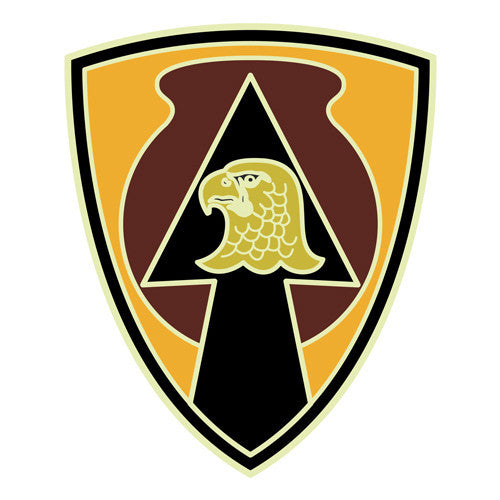 Combat service identification badge sticker 734th support group decal