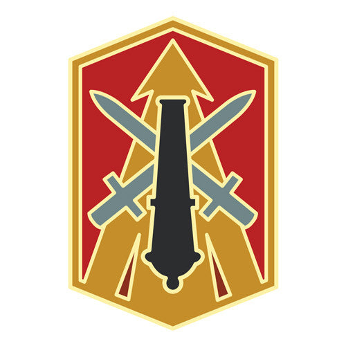 Combat Service Identification Badge Sticker - 214th Fires Brigade Decal