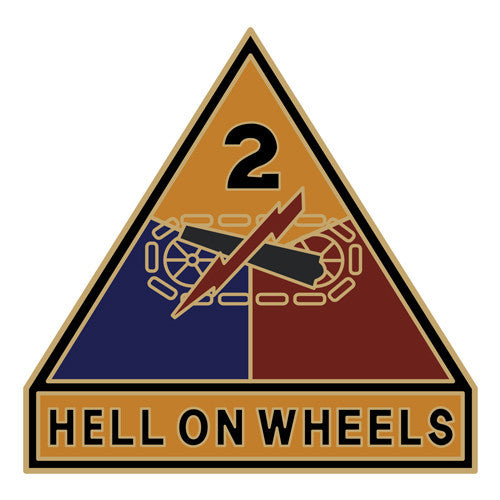 Combat Service Identification Badge Sticker - 2nd Armored Division Decal