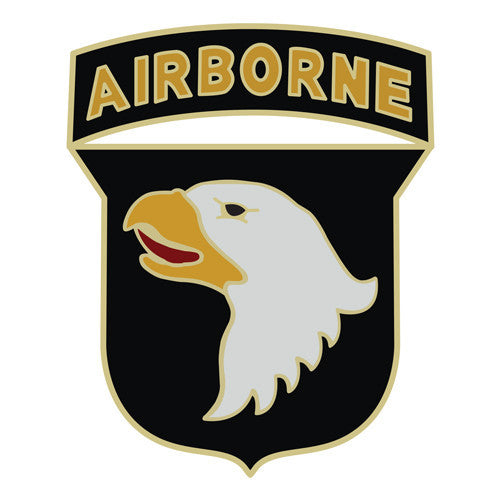 Combat Service Identification Badge Sticker - 101st Airborne Division Decal