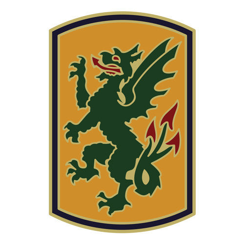 Combat Service Identification Badge Sticker - 415th Chemical Brigade Decal