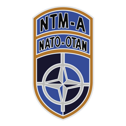 Combat Service Identification Badge Sticker - NATO Training Mission Afghanistan Decal